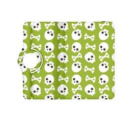 Skull Bone Mask Face White Green Kindle Fire Hdx 8 9  Flip 360 Case