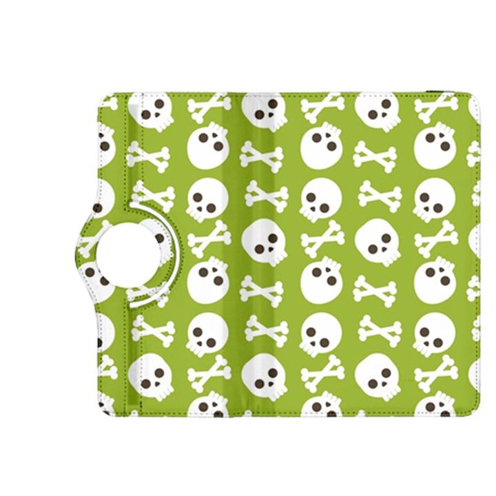 Skull Bone Mask Face White Green Kindle Fire HDX 8.9  Flip 360 Case
