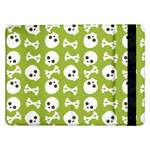 Skull Bone Mask Face White Green Samsung Galaxy Tab Pro 12.2  Flip Case Front