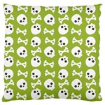Skull Bone Mask Face White Green Standard Flano Cushion Case (Two Sides) Front