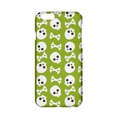 Skull Bone Mask Face White Green Apple Iphone 6/6s Hardshell Case