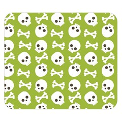 Skull Bone Mask Face White Green Double Sided Flano Blanket (small)