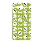 Skull Bone Mask Face White Green Samsung Galaxy Alpha Hardshell Back Case Front