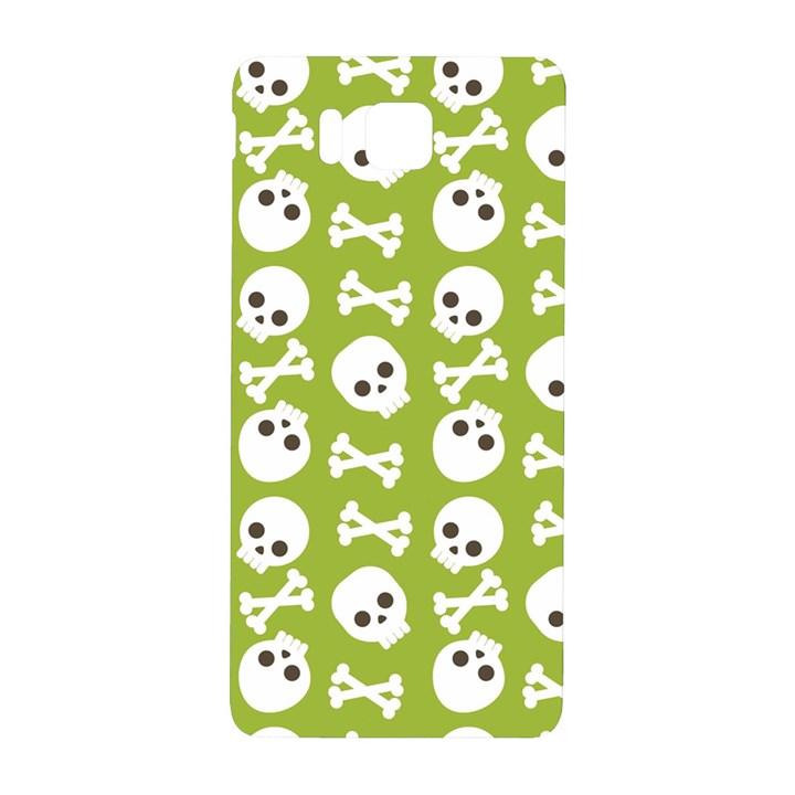 Skull Bone Mask Face White Green Samsung Galaxy Alpha Hardshell Back Case