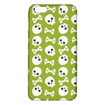 Skull Bone Mask Face White Green iPhone 6 Plus/6S Plus TPU Case Front