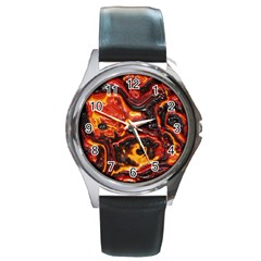 Lava Active Volcano Nature Round Metal Watch