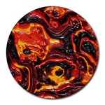 Lava Active Volcano Nature Round Mousepads Front