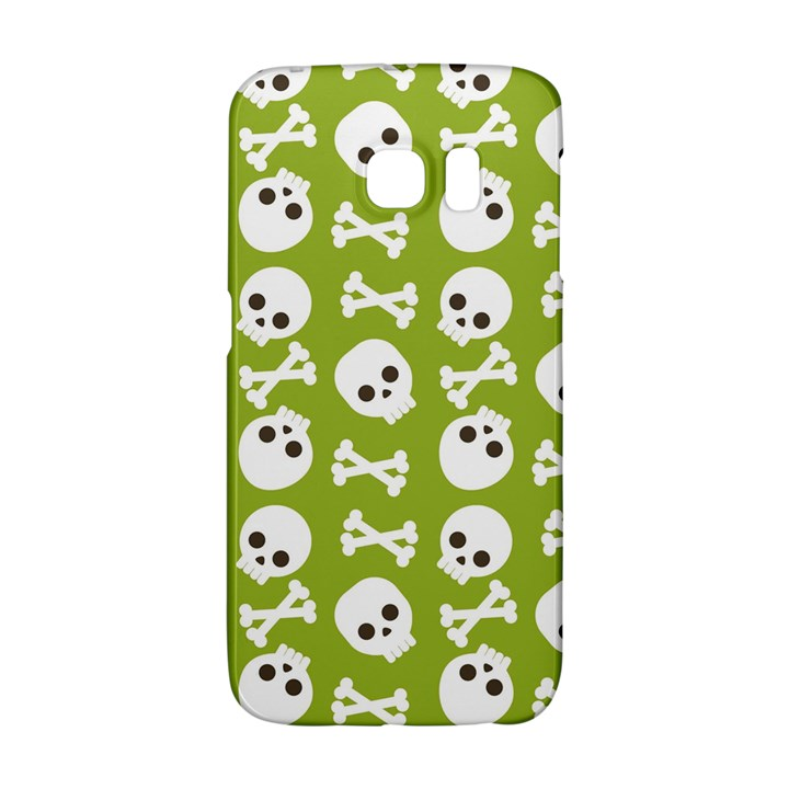 Skull Bone Mask Face White Green Galaxy S6 Edge