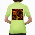 Lava Active Volcano Nature Women s Green T-Shirt Back
