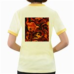 Lava Active Volcano Nature Women s Fitted Ringer T-Shirts Back