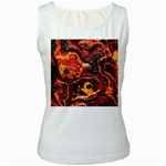 Lava Active Volcano Nature Women s White Tank Top Front