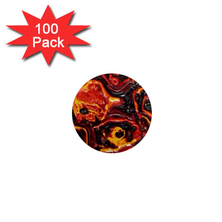 Lava Active Volcano Nature 1  Mini Magnets (100 pack)