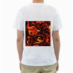 Lava Active Volcano Nature Men s T-Shirt (White) (Two Sided) Back