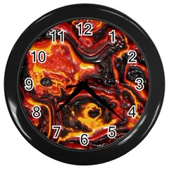 Lava Active Volcano Nature Wall Clocks (black)