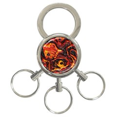 Lava Active Volcano Nature 3 Ring Key Chains