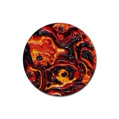 Lava Active Volcano Nature Rubber Coaster (round)