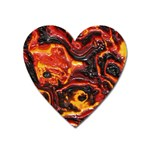 Lava Active Volcano Nature Heart Magnet Front