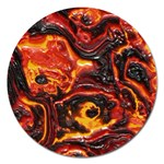 Lava Active Volcano Nature Magnet 5  (Round) Front