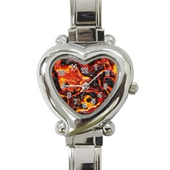 Lava Active Volcano Nature Heart Italian Charm Watch