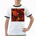 Lava Active Volcano Nature Ringer T-Shirts Front