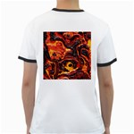 Lava Active Volcano Nature Ringer T-Shirts Back