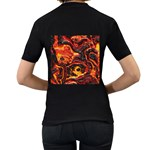 Lava Active Volcano Nature Women s T-Shirt (Black) (Two Sided) Back