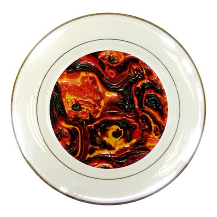 Lava Active Volcano Nature Porcelain Plates