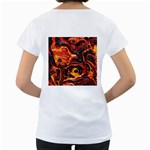 Lava Active Volcano Nature Women s Loose-Fit T-Shirt (White) Back