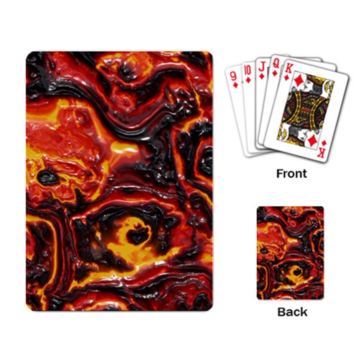 Lava Active Volcano Nature Playing Card