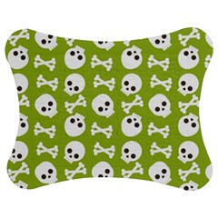 Skull Bone Mask Face White Green Jigsaw Puzzle Photo Stand (bow)