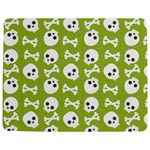 Skull Bone Mask Face White Green Jigsaw Puzzle Photo Stand (Rectangular) Front