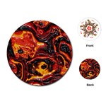 Lava Active Volcano Nature Playing Cards (Round)  Front