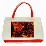 Lava Active Volcano Nature Classic Tote Bag (Red) Front