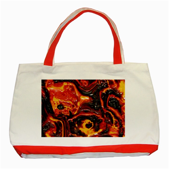 Lava Active Volcano Nature Classic Tote Bag (Red)