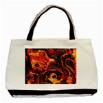 Lava Active Volcano Nature Basic Tote Bag (Two Sides) Back