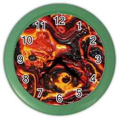 Lava Active Volcano Nature Color Wall Clocks