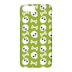 Skull Bone Mask Face White Green Apple Iphone 7 Plus Hardshell Case