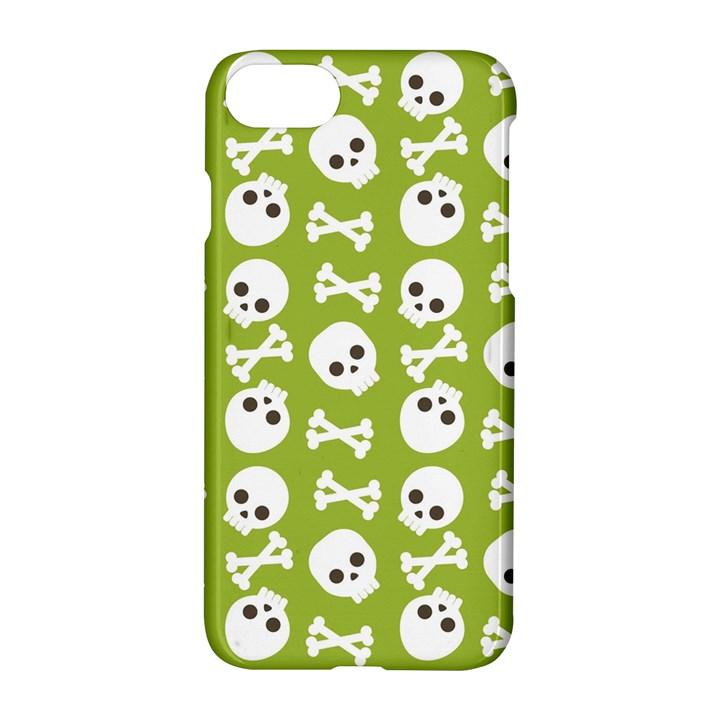 Skull Bone Mask Face White Green Apple iPhone 7 Hardshell Case