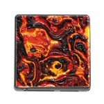 Lava Active Volcano Nature Memory Card Reader (Square) Front