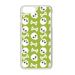 Skull Bone Mask Face White Green Apple Iphone 7 Plus Seamless Case (white)