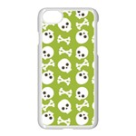 Skull Bone Mask Face White Green Apple iPhone 7 Seamless Case (White) Front