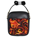 Lava Active Volcano Nature Girls Sling Bags Front