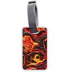 Lava Active Volcano Nature Luggage Tags (One Side)  Front