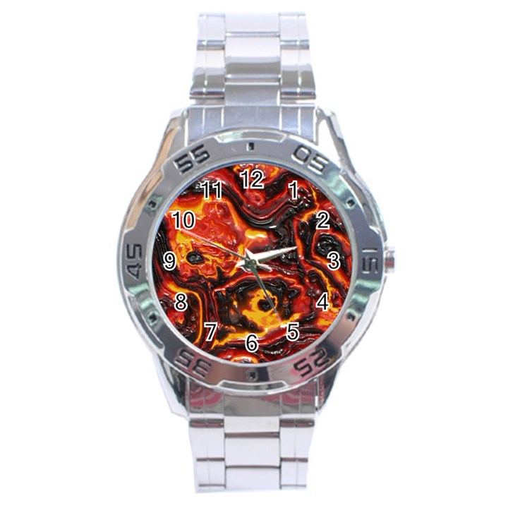 Lava Active Volcano Nature Stainless Steel Analogue Watch