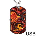 Lava Active Volcano Nature Dog Tag USB Flash (Two Sides) Front