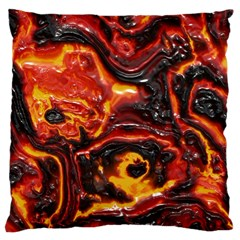 Lava Active Volcano Nature Large Cushion Case (one Side)