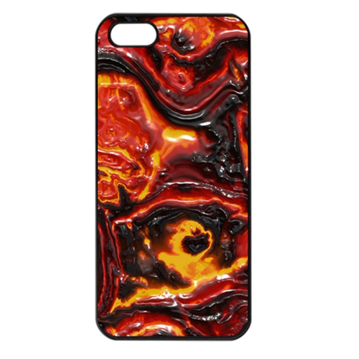 Lava Active Volcano Nature Apple iPhone 5 Seamless Case (Black)