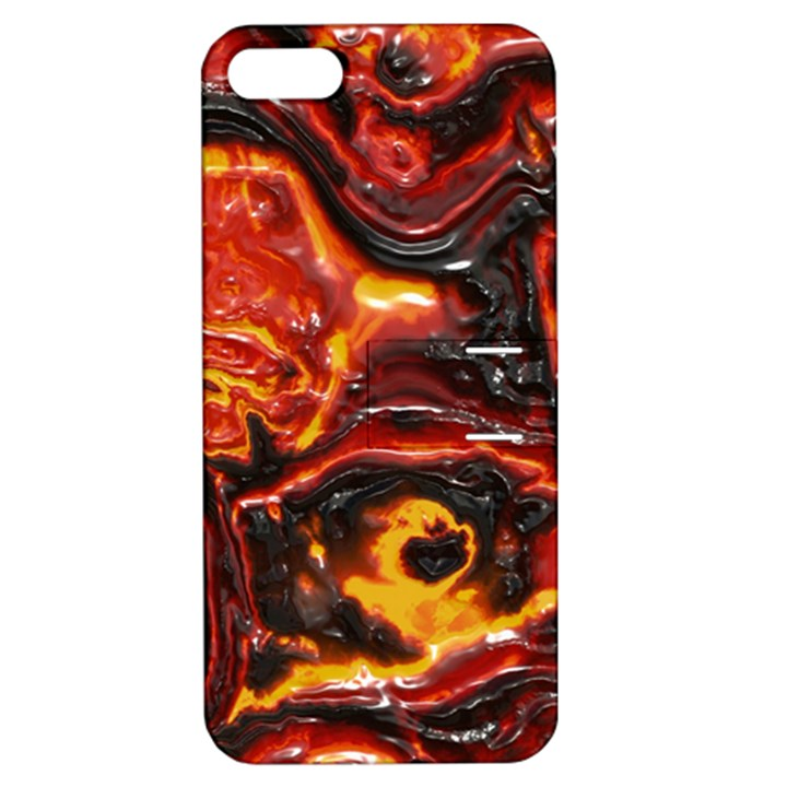 Lava Active Volcano Nature Apple iPhone 5 Hardshell Case with Stand