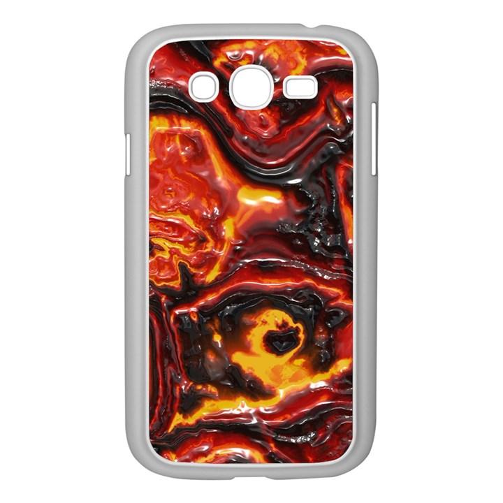 Lava Active Volcano Nature Samsung Galaxy Grand DUOS I9082 Case (White)