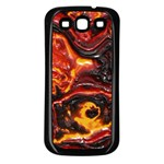 Lava Active Volcano Nature Samsung Galaxy S3 Back Case (Black) Front